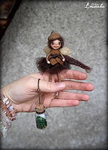 Dekorácie - ♥ Mini bytôstka - Zimná víla Zemislava s prianím ♥ - 6025042_