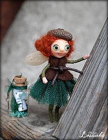 Dekorácie - ♥ Mini bytôstka - Zimná víla Horislava s prianím ♥ - 6025046_