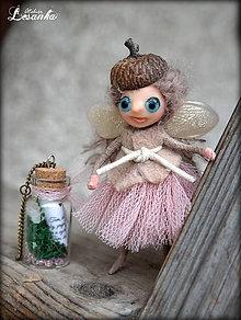 Dekorácie - ♥ Mini bytôstka - Zimná víla Dobroslava s prianím ♥ - 6025049_