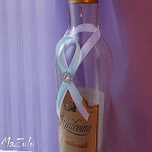Pierka - stuhy na svadobné fľaše - 6027870_