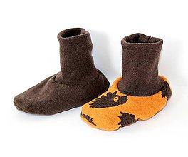 Topánočky - Dvojité Obojstranné Topánočky - MERINO, vel. 0-8m, lem 20cm - 6028526_