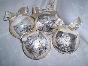 Dekorácie - Vianočné gule - Retro - 6028997_