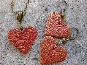 Sady šperkov - Ozdobné srdiečka - sada č.1468 - 6025277_