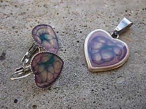 Sady šperkov - Bublinkové srdiečka - sada č.325 - 6028461_