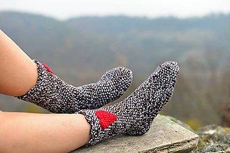 Obuv - Hnedé ponožky - 6028900_