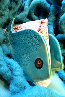 Pomôcky - stojan na servítky alebo dopisy ryba - 6027401_