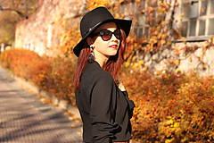 Košele - Čierna košeľa s viazačkou - 6030084_