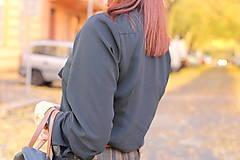 Košele - Čierna košeľa s viazačkou - 6030090_