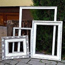 Rámiky - Sada bielych starožitných rámov I. - predaná - 6028643_