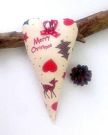 Dekorácie - Vianočná srnka - 6032193_