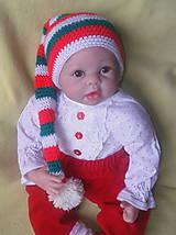 Detské čiapky - Elfíková čiapka - 6031632_