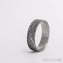 Prstene - Svadobná obrúčka nerezová ocel damasteel - Natura - 6031415_