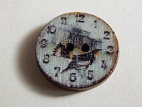 Galantéria - Gombík drevený 20mm - hodinky - 6032425_