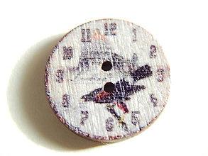 Galantéria - Gombík drevený 20mm - hodinky - 6032501_