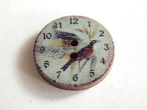 Galantéria - Gombík drevený 20mm - hodinky - 6032521_