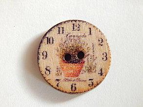 Galantéria - Gombík drevený 20mm - hodinky - 6032548_