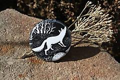 Odznaky/Brošne - Placka malá s liškou - 6031378_