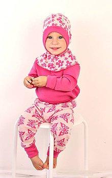 Detské čiapky - Kukla MERINO VLNA jednostranná s lemom - VÝBER FARIEB - - 6034154_