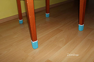 Úžitkový textil - Ľadové ponožky na nohy stoličky (sada na jednu stoličku) - 6035245_