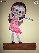 Menovka - dievča s flautou