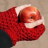 Rukavice - rukavice červené - 6031454_