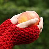 Rukavice - rukavice červené - 6031457_