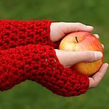Rukavice - rukavice červené - 6031458_