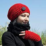 Rukavice - rukavice červené - 6031474_
