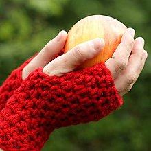 Rukavice - rukavice červené - 6031453_