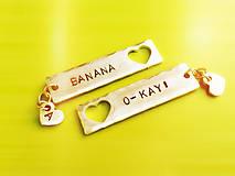 Kľúčenky - BANANA :) / 2mm hrúbka / cena za 1ks - 6040204_