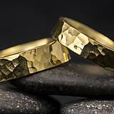 Prstene - Zlatá svadobná obrúčka - Golden Draill yelow - 6039553_