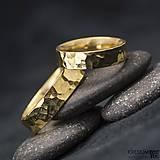 Prstene - Zlatá svadobná obrúčka - Golden Draill yelow - 6039554_