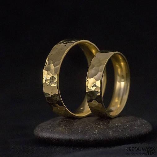 Zlatá svadobná obrúčka - Golden Draill yelow