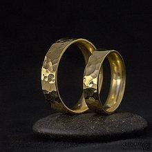 Prstene - Zlatá svadobná obrúčka - Golden Draill yelow - 6039555_