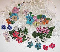Sady šperkov - lel,3 šperky v sade- kvetinová spona, náhrdelník a náušnice - 6040270_