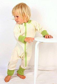 Detské oblečenie - Rastúci overal - merino vlna (veľ. 75 - 92 cm (9-24 mesiacov) – 19 farieb) - 6037027_