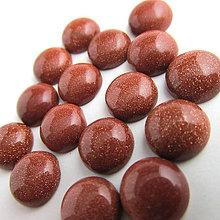 Minerály - Kabošon / 10mm (Slnečný kameň červ. synt.) - 6038205_