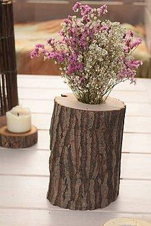 Dekorácie - Kvetináč prírodný - 6038692_