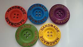 - Sada farebných gombíčkov HANDMADE 3cm (balíček 5ks) - 6036731_