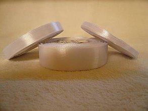 Galantéria - Saténová stuha biela 25 mm/32 m - 6040048_