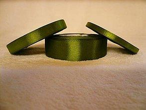 Galantéria - Saténová stuha olivová 12 mm/32 m - 6040316_