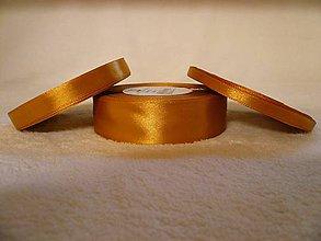 Galantéria - Saténová stuha zlatá 25 mm/32 m - 6040413_