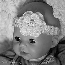 Detské doplnky - Háčkovaná čelenka na fotenie či bežné nosenie - 6041584_