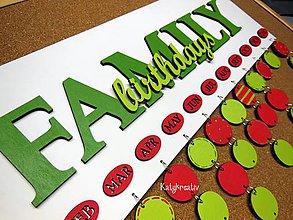 Tabuľky - kalendár family - 6041509_