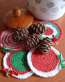 Úžitkový textil - Vianočné podšálky - 6043523_