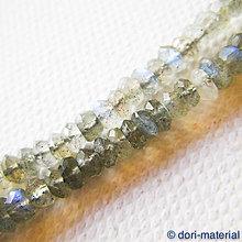 Minerály - labradorit, 4 x 2 mm - 6042664_