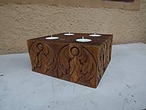 Svietidlá a sviečky - Svietnik Anjelíci - 6044561_