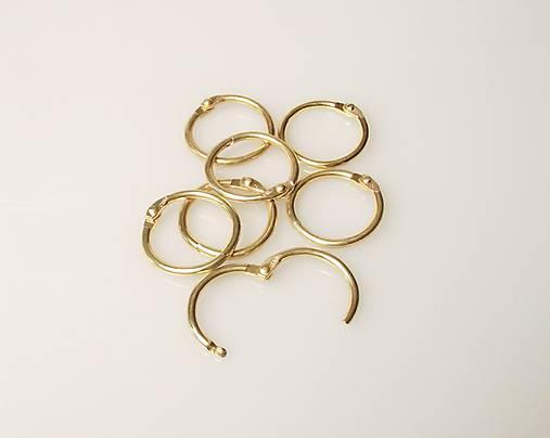 Otváracie krúžky 26/33mm zlaté