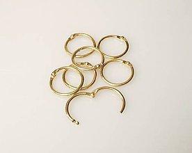Komponenty - Otváracie krúžky 26/33mm zlaté  - 6045656_