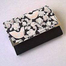 Peňaženky - Ptáčci na černé - peněženka - 6045860_